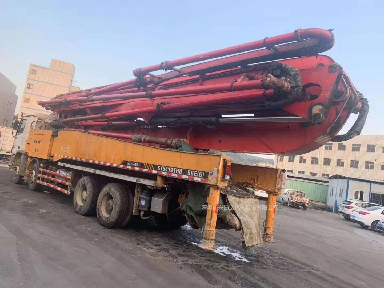广东深圳2013年56米三一重工泵车,奔驰底盘