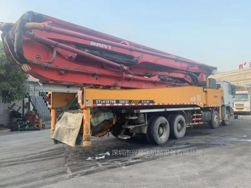 廣東深圳2013年56米三一重工泵車,奔馳底盤