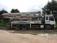 广东深圳2007年37米国三中联重科泵车,五十铃底盘