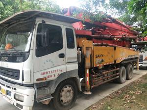 广东深圳2009年底3台40米X支腿三一重工泵车,五十铃底盘