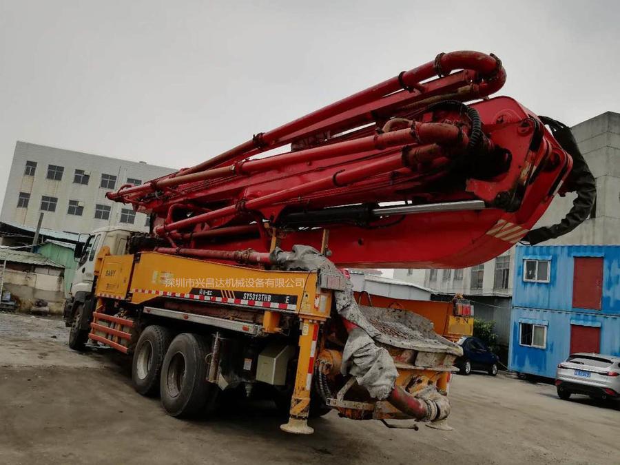 2012年46米三一重工泵车,五十铃底盘