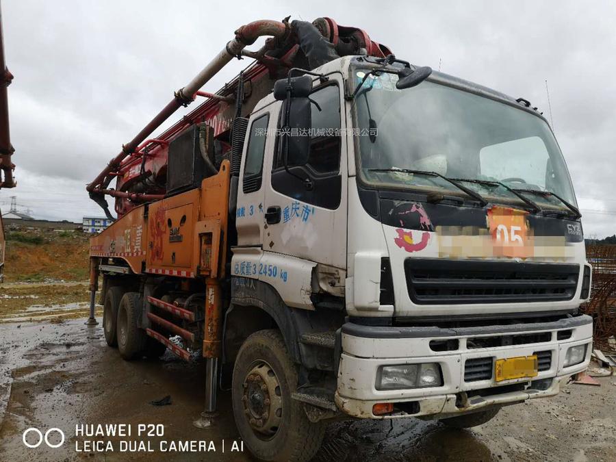 三台2013年12月份49米三一重工泵车,龙象共舞C8系统