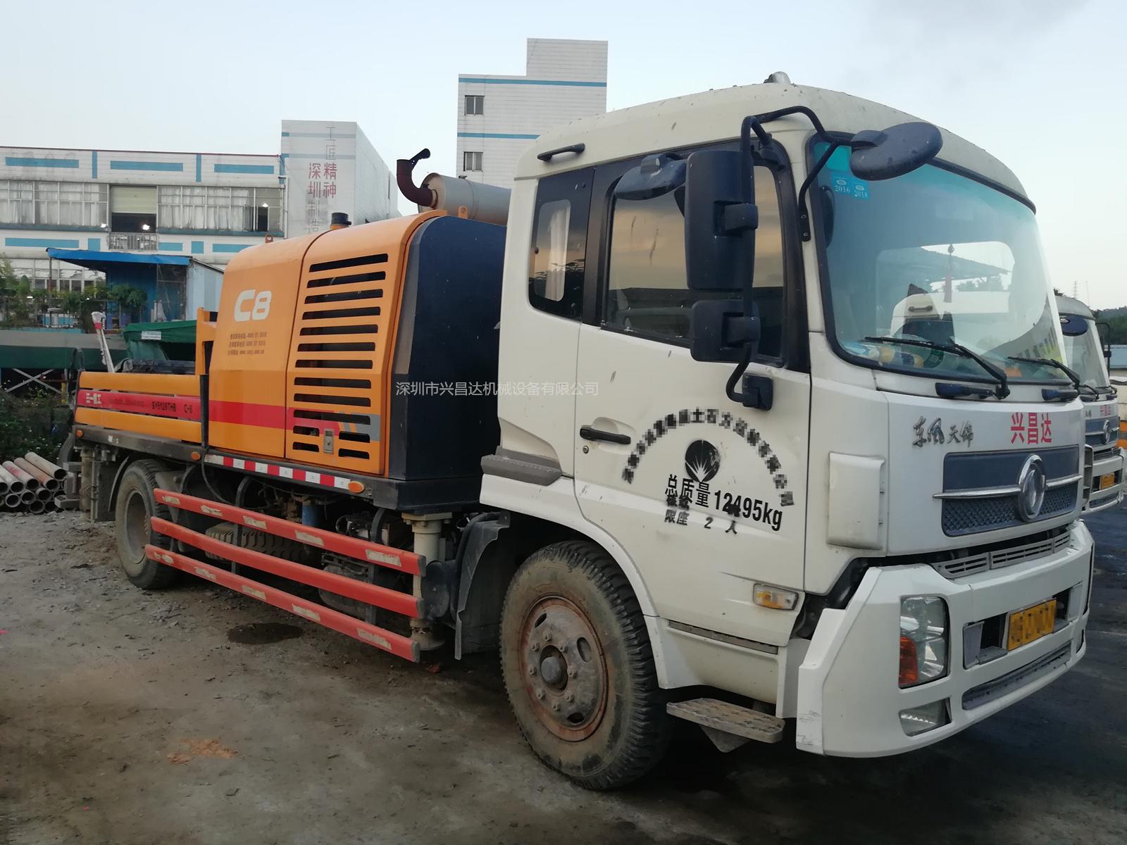 2014年底国四C8三一重工车载泵10020,东风天锦底盘