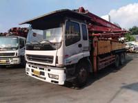 广东深圳2010年37米三一重工混凝土泵车,五十铃底盘