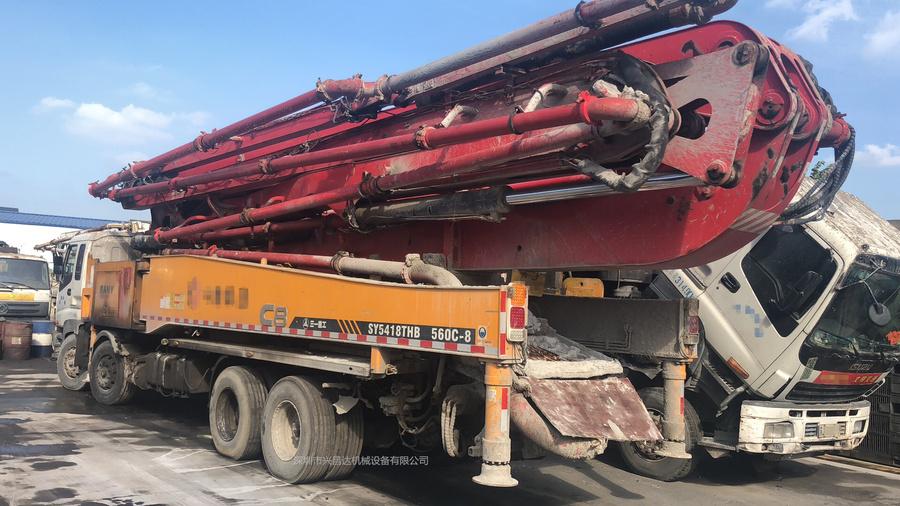 2013年56米C8三一重工泵车,五十铃底盘
