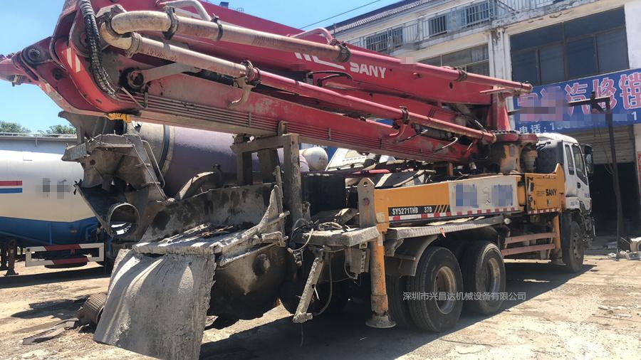 2010年底37米三一重工泵車,五十鈴底盤