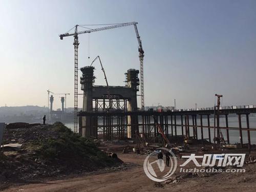 泸州长江二桥工程进展顺利 即将进入关键性节点施工