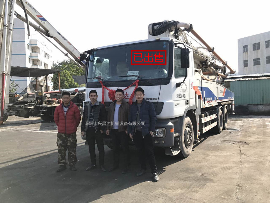中聯重科二手混凝土泵車,已售出