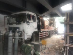 2014年c8三一重工車載泵,東風天錦底盤