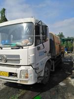 海南戶深圳看車2012年9018三一重工車載泵,東風天錦底盤