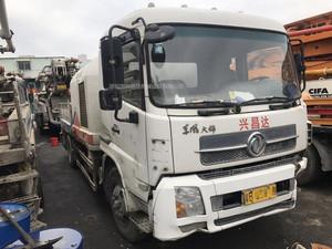 2012年國三綠標中聯重科車載泵9014,東風天錦底盤