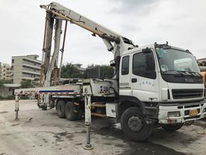 2007年底国三绿标37米中聯重科泵車,五十铃底盘