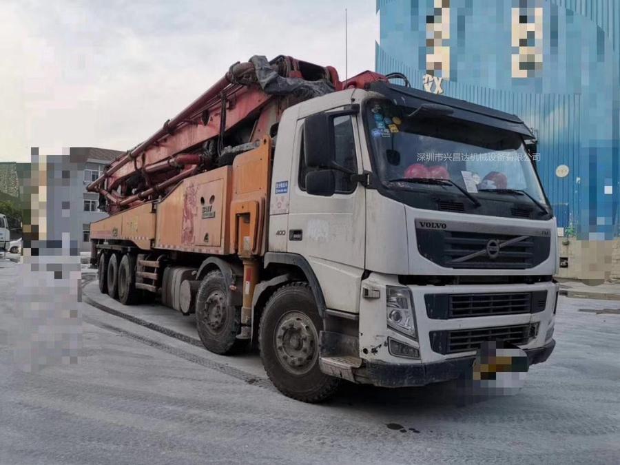 广东深圳2014年底5桥国三62米C8三一重工泵車,沃尔沃底盘
