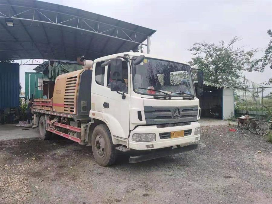广州2018年国五三一重工10018混凝土车载泵,三一自制底盘