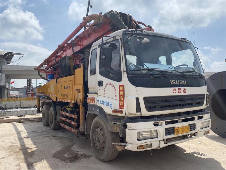 深圳2012年11月46米三一重工混凝土泵車,五十鈴底盤